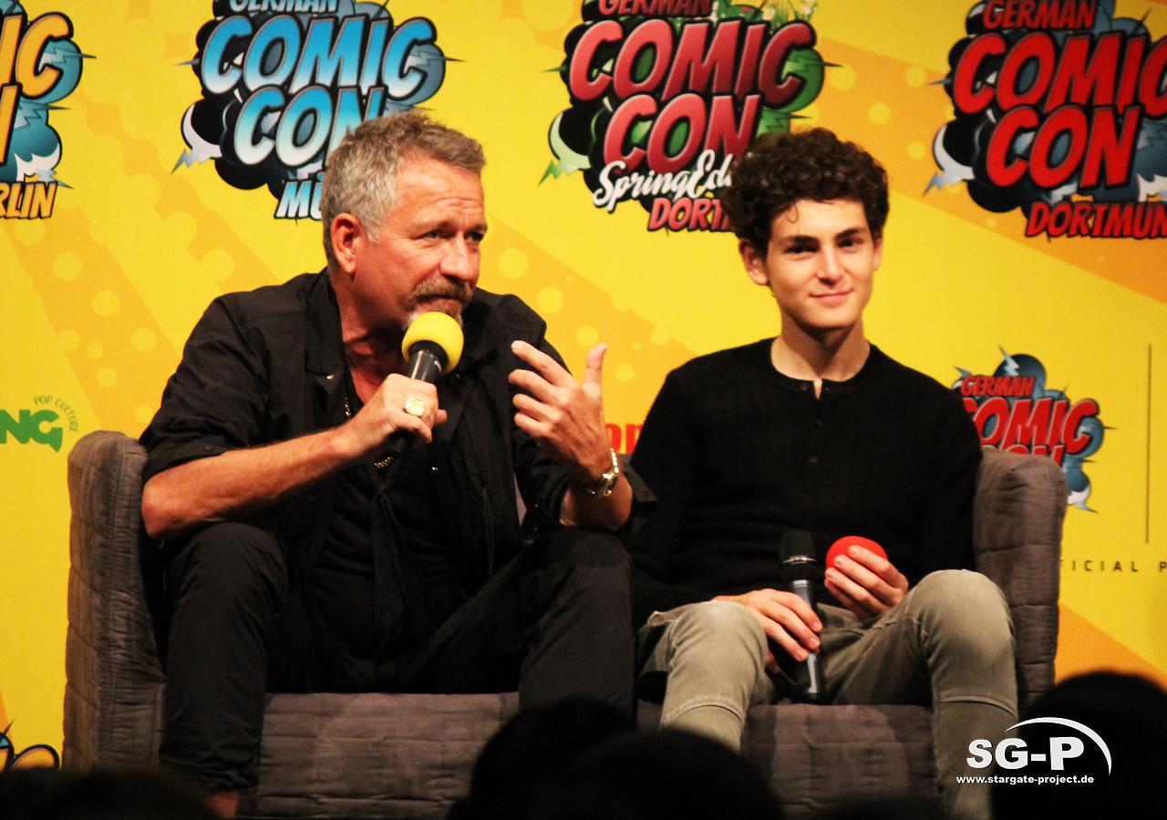German Comic Con München 2019 - Gotham - Sean Pertwee David Mazouz 2
