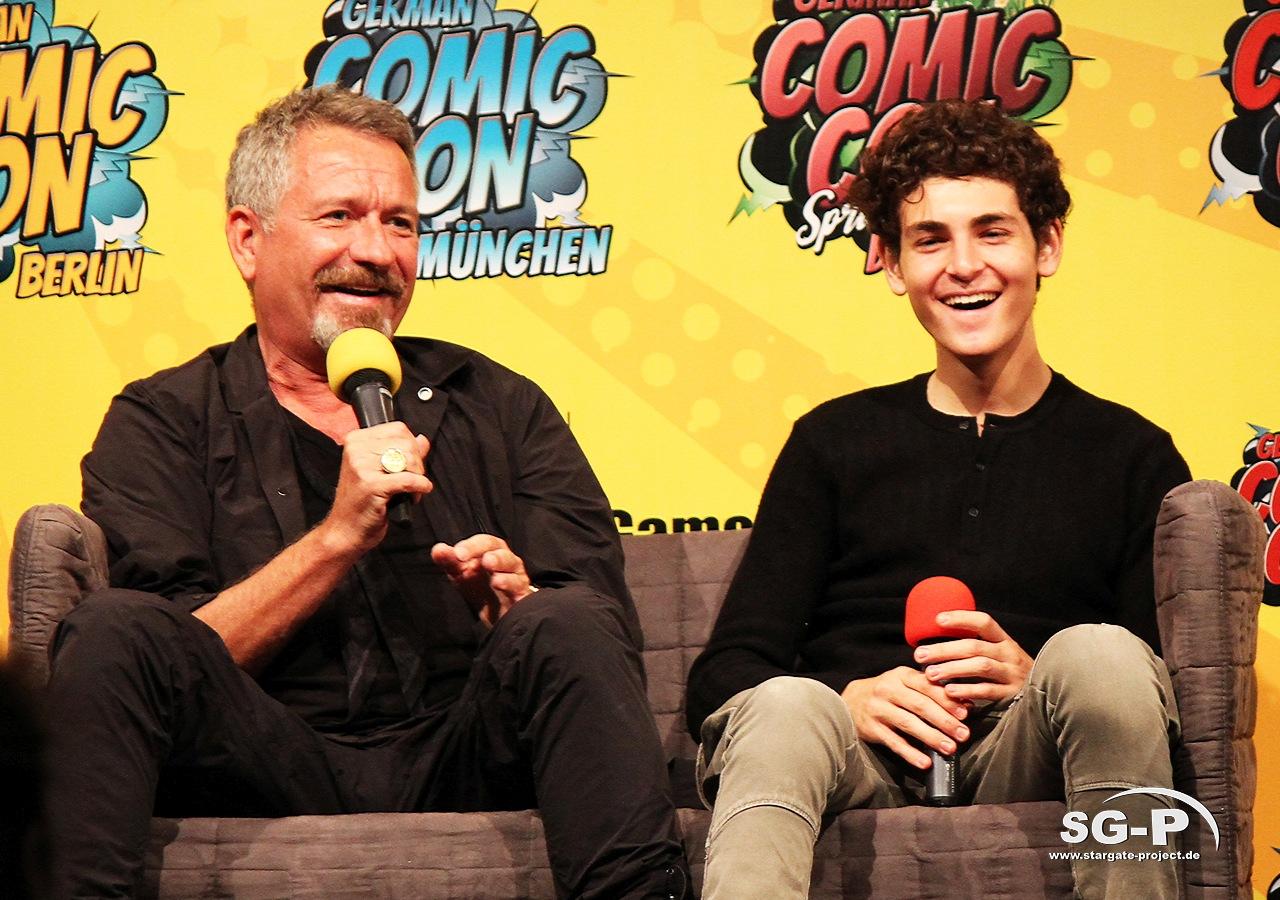 German Comic Con München 2019 - Gotham - Sean Pertwee David Mazouz 8