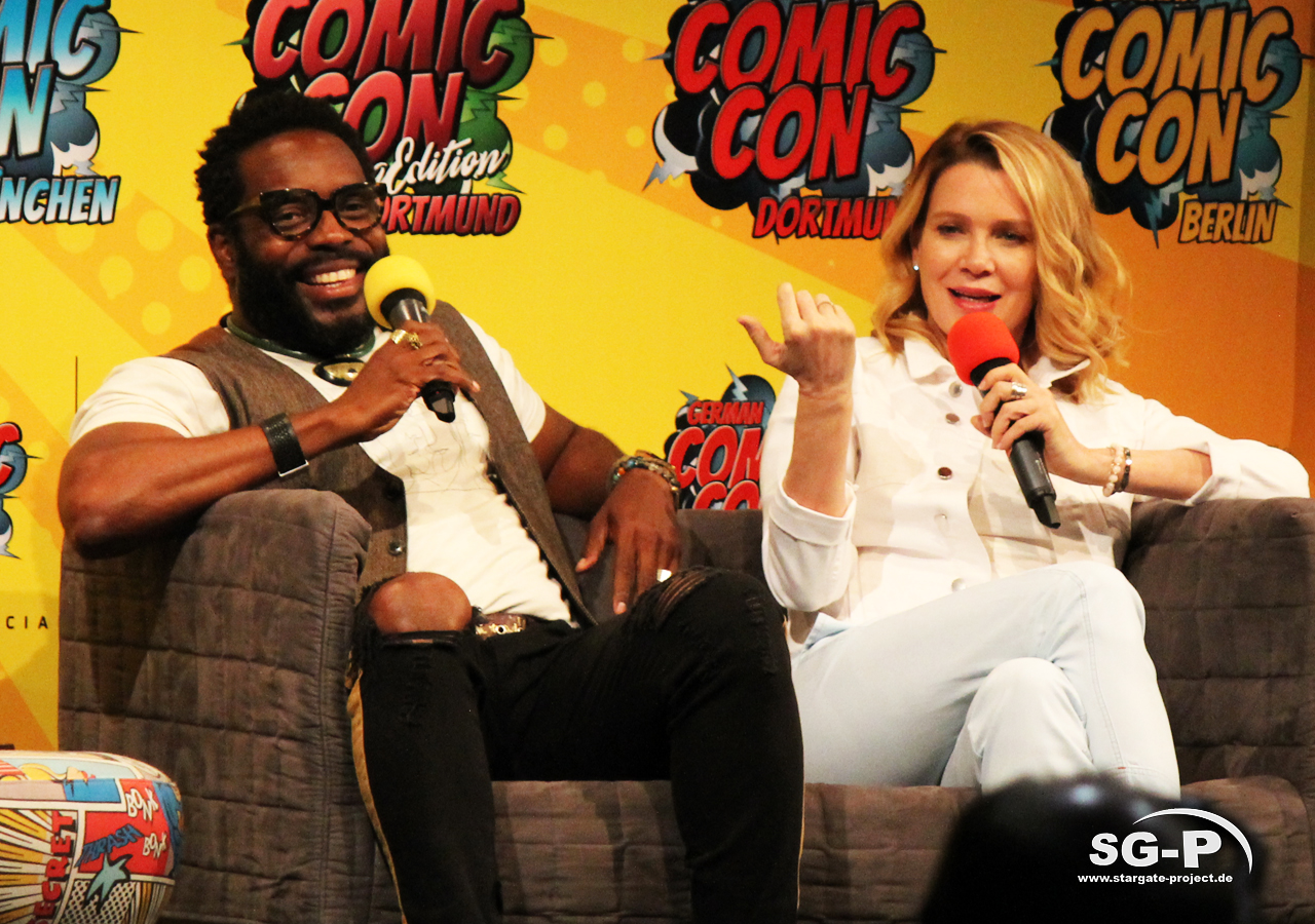 German Comic Con München 2019 - The Walking Dead - Chad Coleman Laurie Holden 3