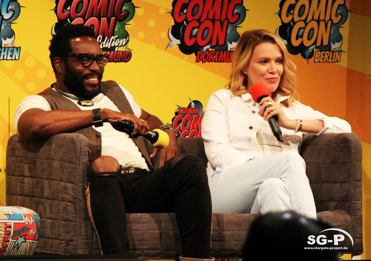 German Comic Con München 2019 - The Walking Dead - Chad Coleman Laurie Holden 4