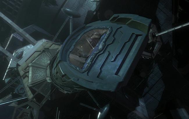 Stargate: Atlantis - Lexikon - Antiker Verteidigungssatellit Schleuse Puddle Jumper 1