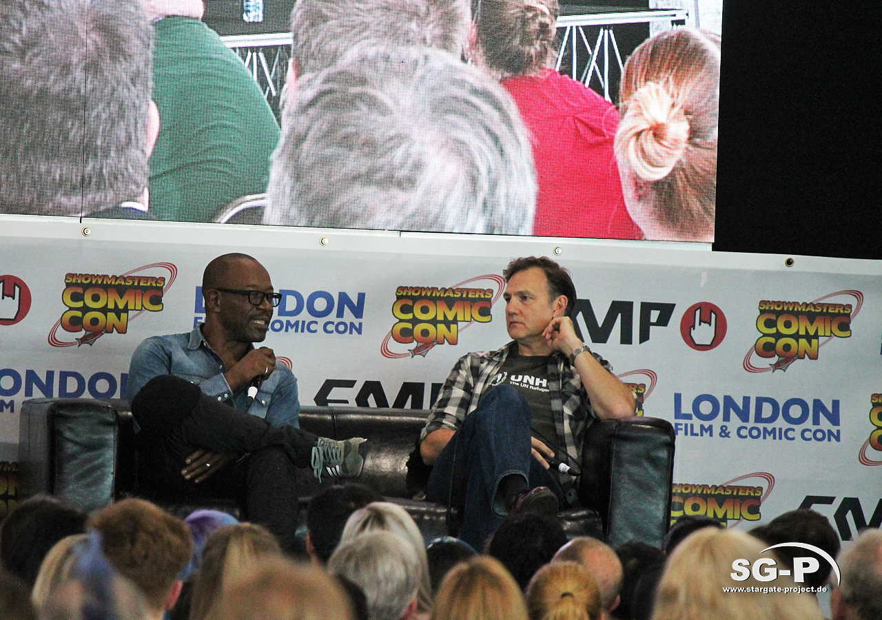 London Film and Comic Con 2019 - The Walking Dead - Lennie James David Morrissey 1