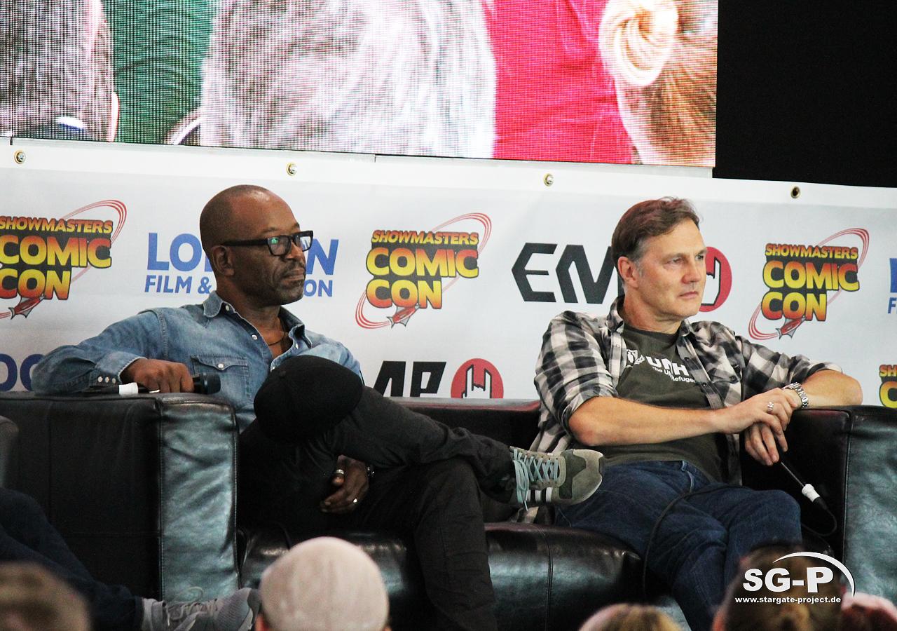 London Film and Comic Con 2019 - The Walking Dead - Lennie James David Morrissey 2