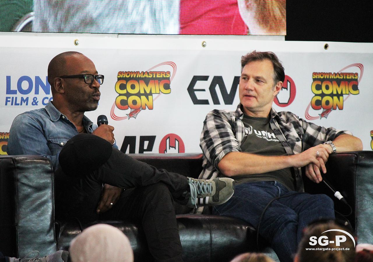 London Film and Comic Con 2019 - The Walking Dead - Lennie James David Morrissey 3
