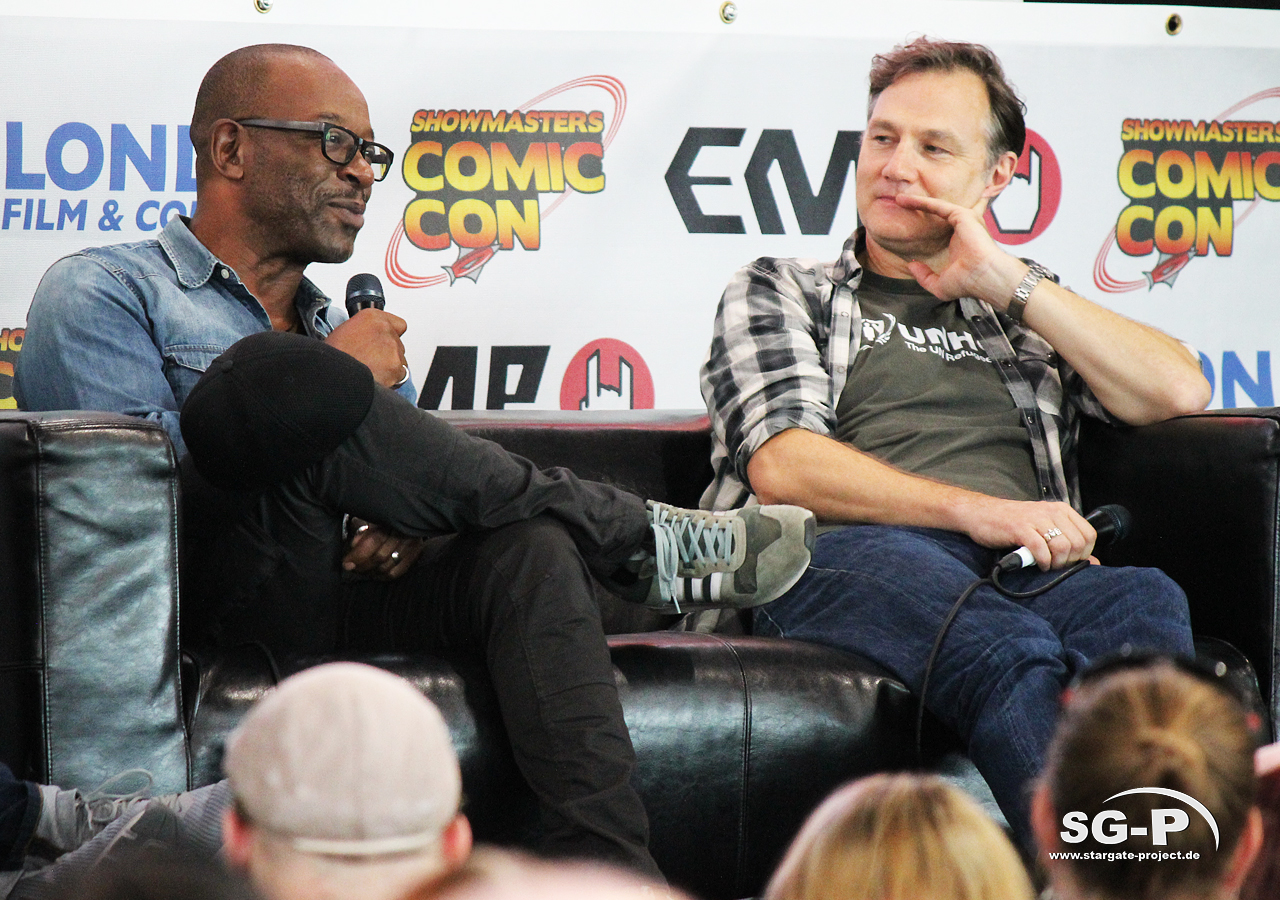 London Film and Comic Con 2019 - The Walking Dead - Lennie James David Morrissey 4