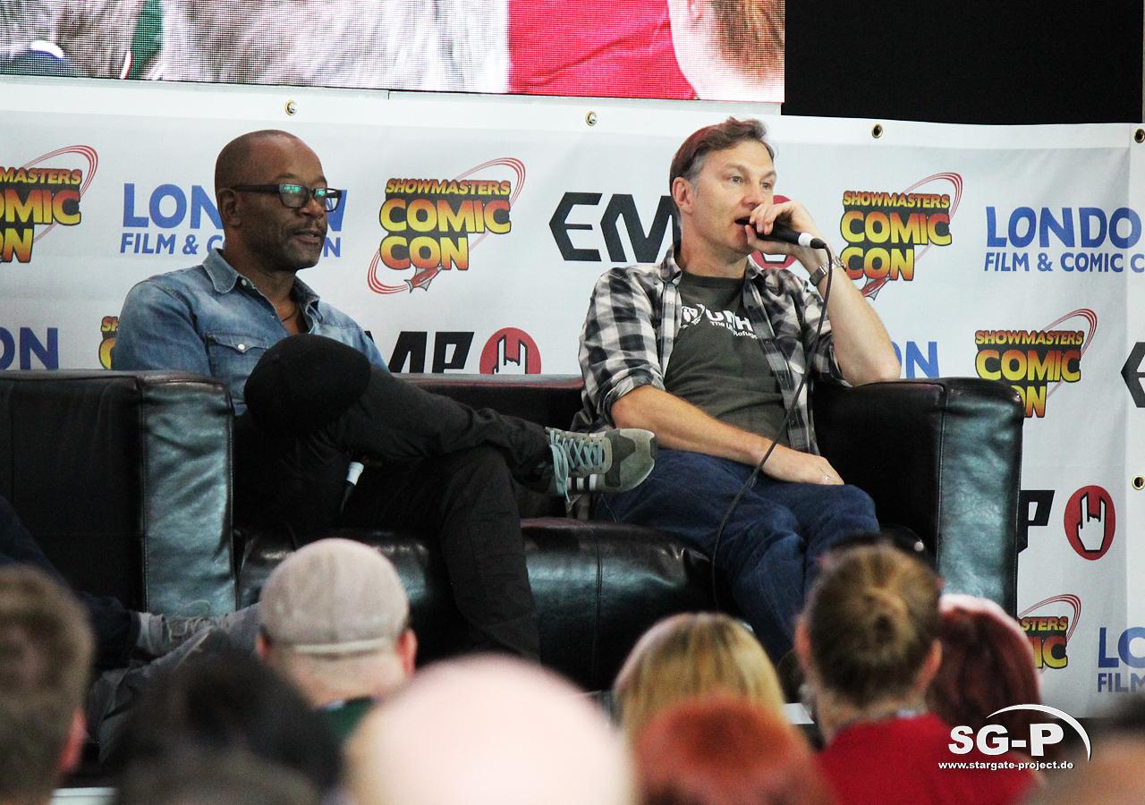 London Film and Comic Con 2019 - The Walking Dead - Lennie James David Morrissey 5