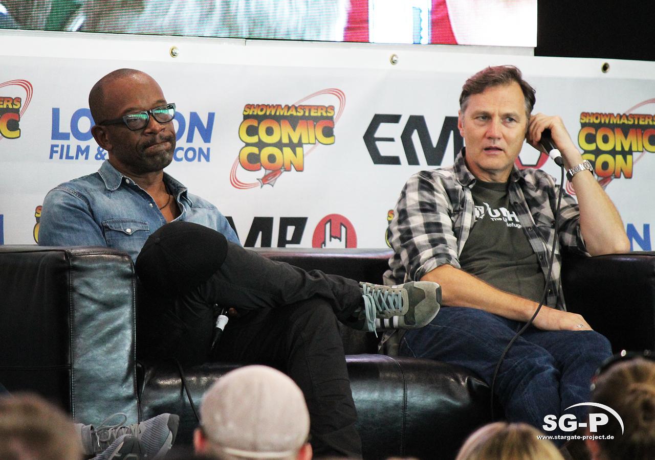 London Film and Comic Con 2019 - The Walking Dead - Lennie James David Morrissey 8