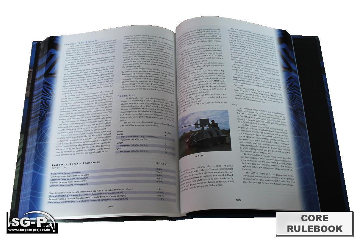 Merchandise - Stargate SG-1 Roleplaying Game Core Rulebook (AEG) - 5