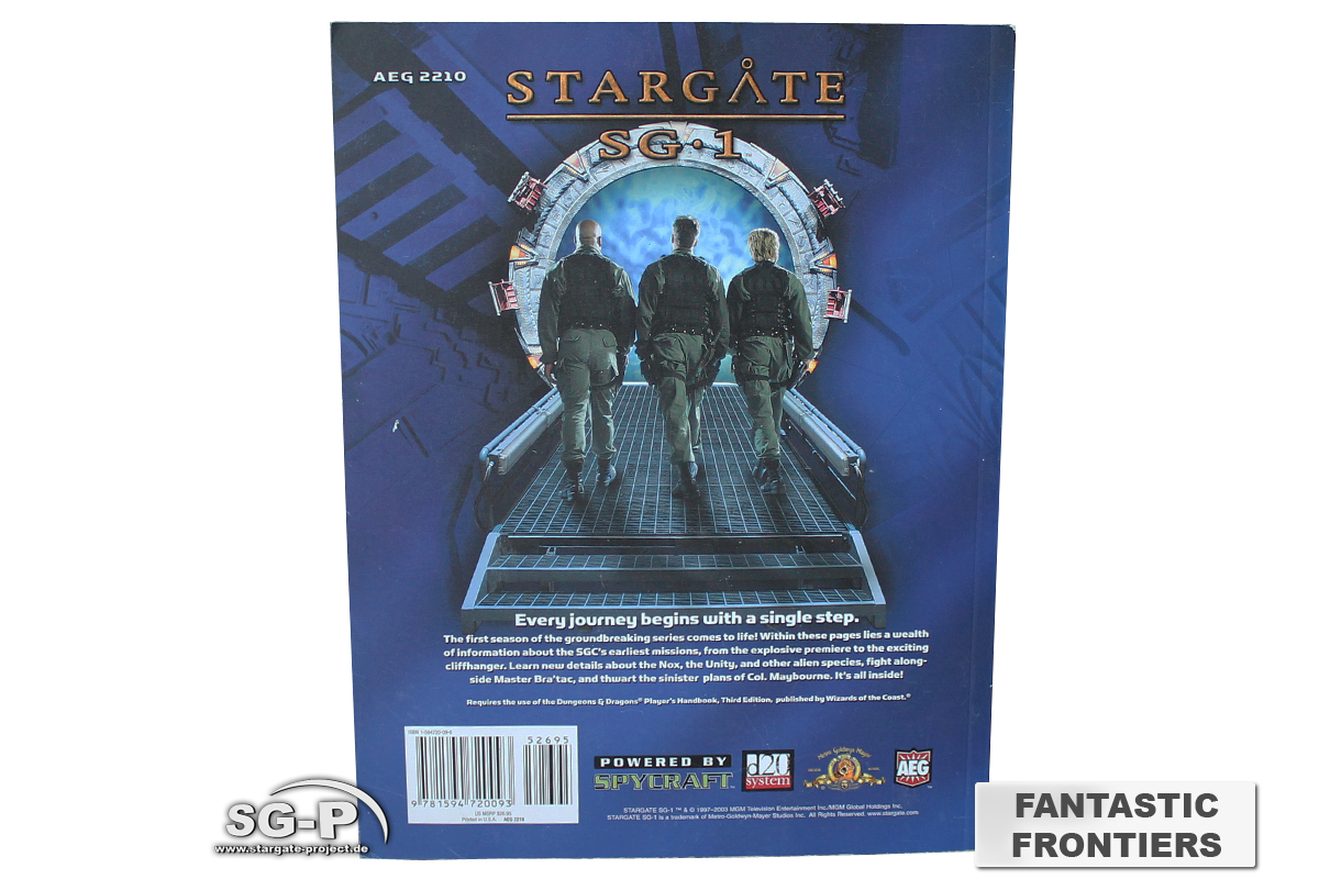 Merchandise - Stargate SG-1 Roleplaying Game Fantastic Frontiers Season 1 (AEG) - 4