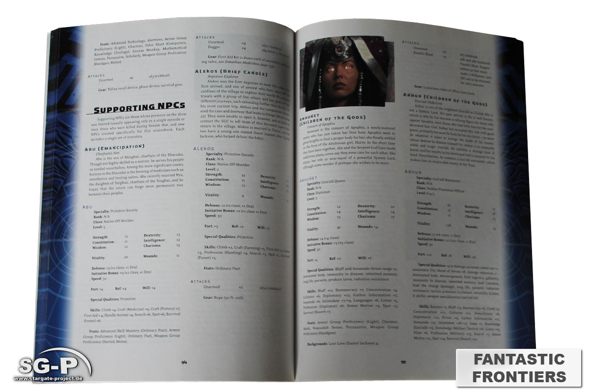 Merchandise - Stargate SG-1 Roleplaying Game Fantastic Frontiers Season 1 (AEG) - 5