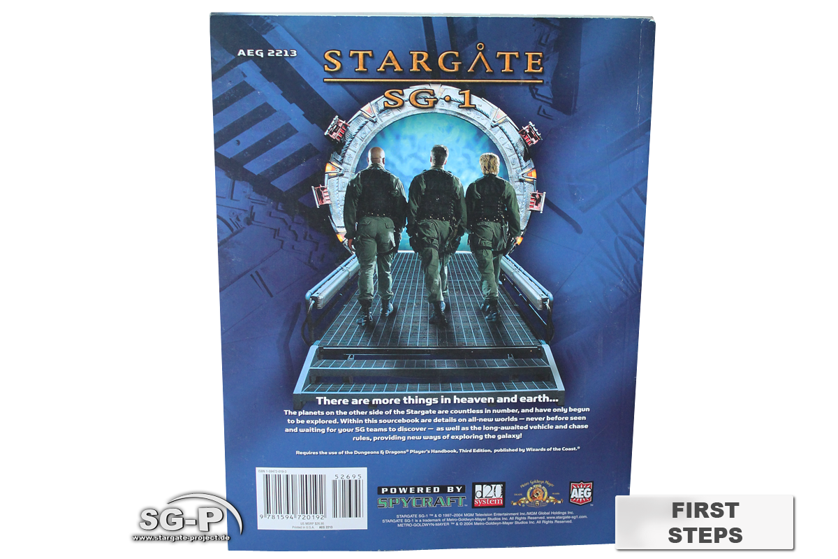 Merchandise - Stargate SG-1 Roleplaying Game First Steps (AEG) - 4