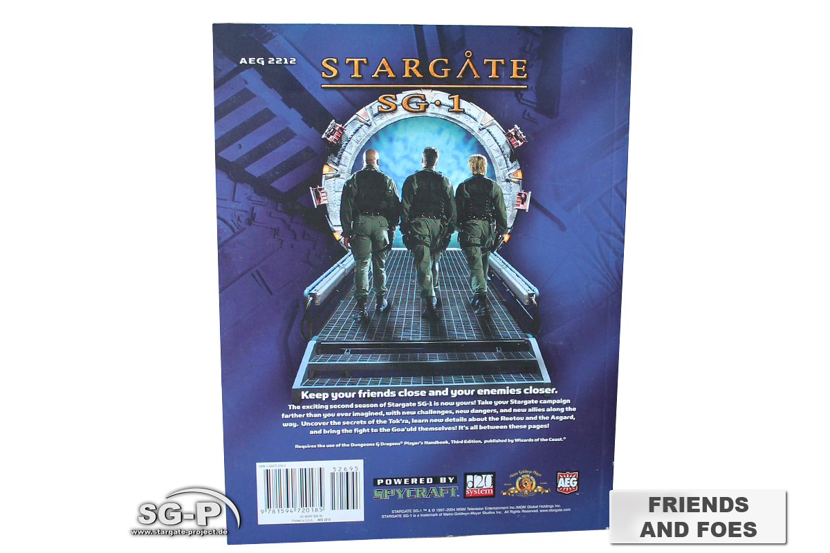 Merchandise - Stargate SG-1 Roleplaying Game Friends and Foes Season 2 (AEG) - 4