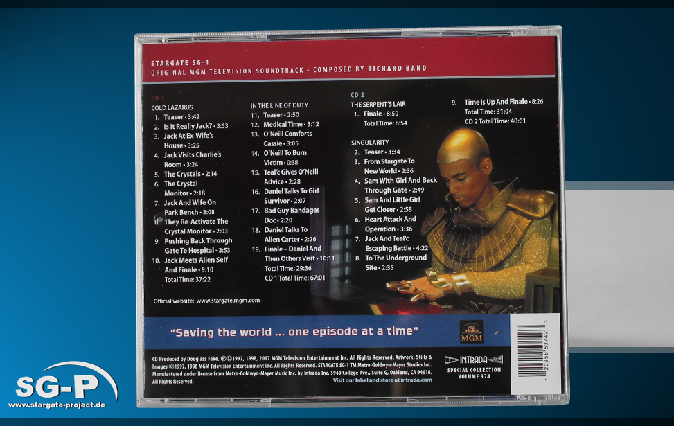 Soundtrack - Stargate SG-1 Music from selected episodes - 2