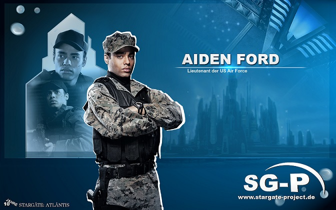 Wallpaper - SG-P - Stargate Atlantis - Aiden Ford - Rainbow Sun Francks