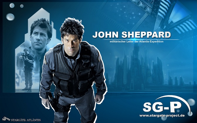 Wallpaper - SG-P - Stargate Atlantis - John Sheppard - Joe Flanigan