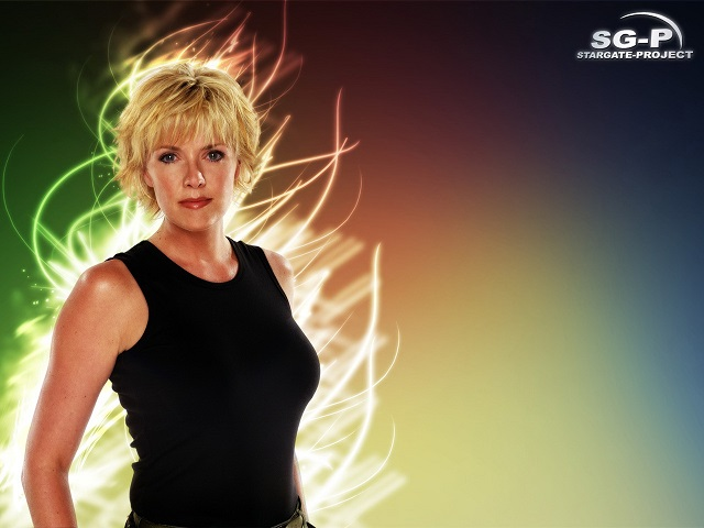 Wallpaper - SG-P - Stargate SG-1 - Samantha Carter - Amanda Tapping